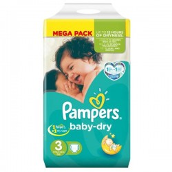 LesCouches Pack 72 couches Pampers Baby Dry Night