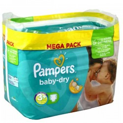 Pampers - 340 Couches Baby Dry taille 3+