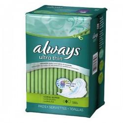 Always - 80 Serviettes hygiéniques Ultra Thin taille Long sur Les Couches