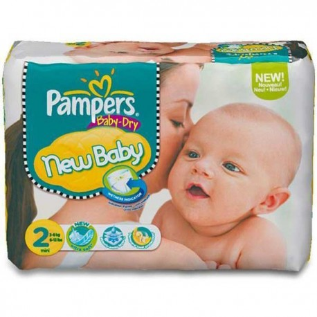 Pampers - 72 Couches Baby Dry taille 2 sur Les Couches