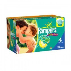 Pampers - 264 Couches Baby Dry taille 4