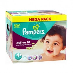 Pampers - 250 Couches Active Fit taille 4+ sur Les Couches