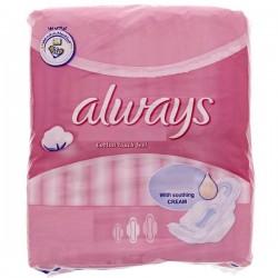 Always - 8 Serviettes hygiéniques Ultra Thin Coton taille Long sur Les Couches