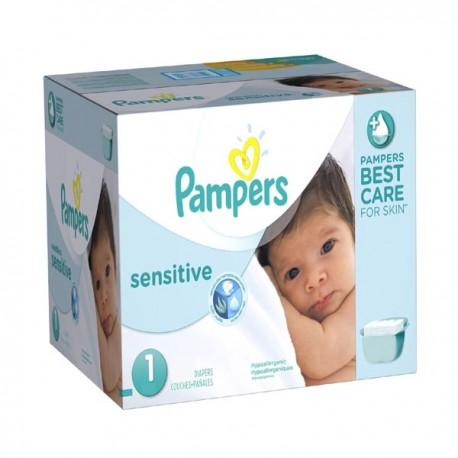299 Couches Pampers New Baby Sensitive Taille 1 En Promotion Sur Les