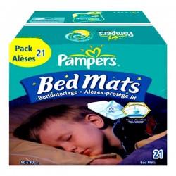 Pampers - 21 Alèses de lits taille 90X80cm sur Les Couches