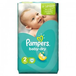 Pampers - 58 Couches Baby Dry taille 2 sur Les Couches