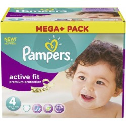 Pampers - 328 Couches Active Fit taille 4 sur Les Couches