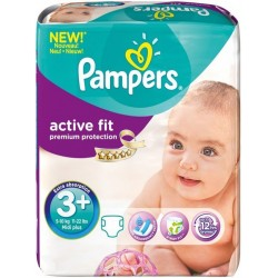 Pampers - 320 Couches Active Fit taille 3+ sur Les Couches