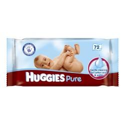 Huggies - 72 Lingettes Bébés Pure sur Les Couches