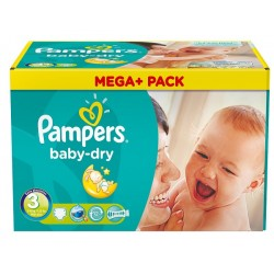 Pampers - 272 Couches Baby Dry taille 3