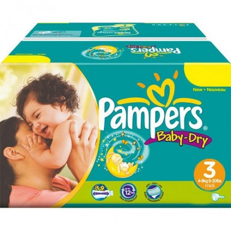 Pampers - 272 Couches Baby Dry taille 3 sur Les Couches