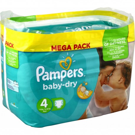 60 couches pampers baby dry taille 4 en solde sur les couches - Couches pampers baby dry ...