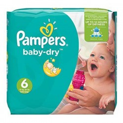 LesCouches Pack 92 couches Pampers Baby Dry