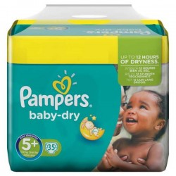 Pampers - 35 Couches Baby Dry taille 5+ sur Les Couches