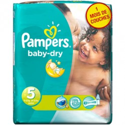 LesCouches Pack 41 couches Pampers Baby Dry