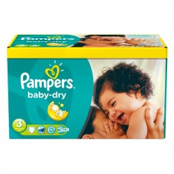 LesCouches Giga Pack 104 Couches Pampers Baby Dry