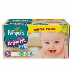 LesCouches Maxi Giga Pack 372 Couches Pampers Active Fit
