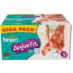 Pampers - 372 Couches Active Fit taille 3