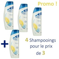 Head & Shoulders - 4 Shampooings Antipelliculaire Citrus Fresh - 4 au prix de 3 sur Les Couches