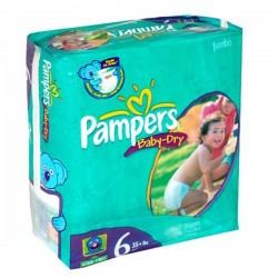 Pampers - 33 Couches Baby Dry taille 6