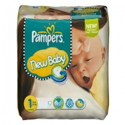 Pampers - 301 Couches New Baby Dry taille 1