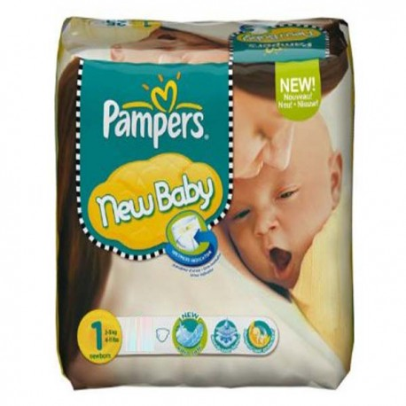 Pampers - 301 Couches New Baby Dry taille 1 sur Les Couches