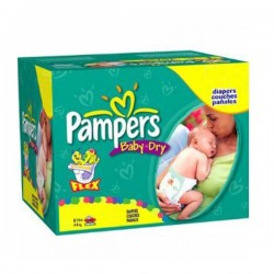 LesCouches Maxi Giga Pack 252 Couches Pampers Baby Dry
