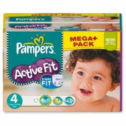 Pampers - 273 Couches Active Fit taille 4 sur Les Couches
