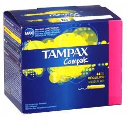 Tampax - 80 Tampons Compak taille RegularavecApplicateur sur Les Couches