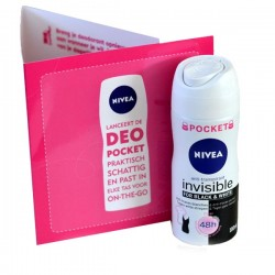 Nivea - Deodorant Invisible Black and White taille Pocket sur Les Couches