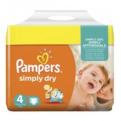 LesCouches Pack 46 couches Pampers Simply Dry