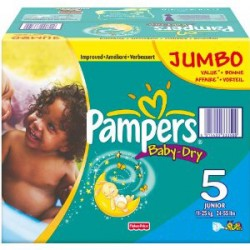 Pampers - 360 Couches Baby Dry taille 5 sur Les Couches
