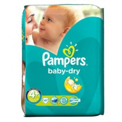 Pampers - 41 Couches Baby Dry taille 4+ sur Les Couches
