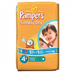 LesCouches Pack 44 Couches Pampers Simply Dry
