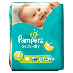 LesCouches Pack 42 couches Pampers Baby Dry