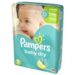 Pampers - 42 Couches Baby Dry taille 2