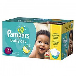 Pampers - 68 Couches Baby Dry taille 3+