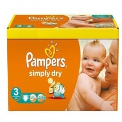 Pampers - 56 Couches Simply Dry taille 3 sur Les Couches
