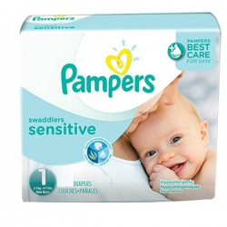 Pampers - 230 Couches New Baby Sensitive taille 1 sur Les Couches