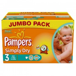 Pampers - 280 Couches Simply Dry taille 3 sur Les Couches