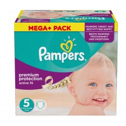 Pampers - 322 Couches Active Fit taille 5 sur Les Couches
