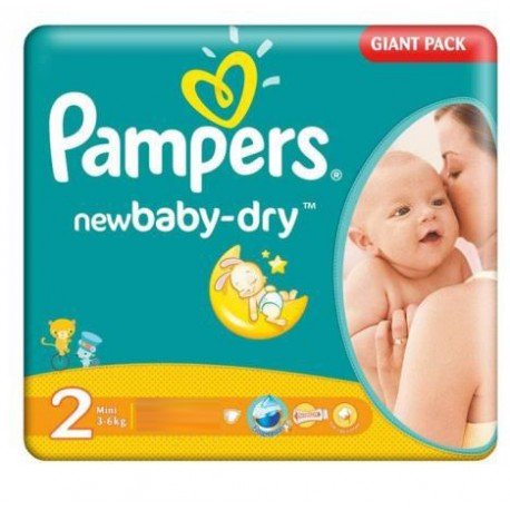 Couches Pampers New Baby Dry Taille 2 En Promotion Sur Les Couches