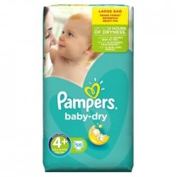 Pampers - 56 Couches Baby Dry taille 4+ sur Les Couches