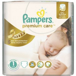Pampers - 22 Couches Premium Care taille 1 sur Les Couches