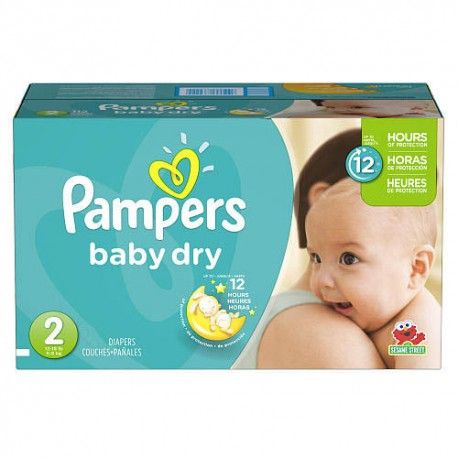 Pampers - 396 Couches Baby Dry taille 2 sur Les Couches