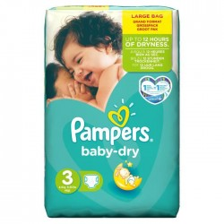 Pampers - 68 Couches Baby Dry taille 3 sur Les Couches