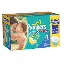 Pampers - 372 Couches Baby Dry taille 4 sur Les Couches