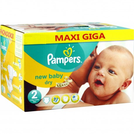 Pampers - 504 Couches New Baby Dry taille 2 sur Les Couches