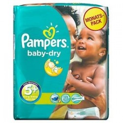 Pampers - 43 Couches Baby Dry taille 5+