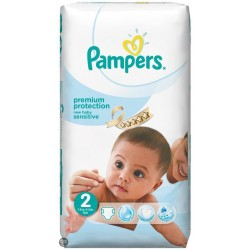 Pampers - 60 Couches New Baby Sensitive taille 2 sur Les Couches